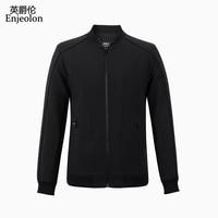 Enjeolon бренд осень бомбер повседневные куртки для мужчин, однотонная ветровка куртка пальто для мужчин большие размеры, S 3XL куртка мужская
