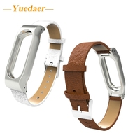 Yuedaer For Xiaomi Mi Band 2 Genuine Leather Strap Bracelet Wrist Band For Original Miband 2