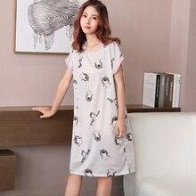 2019 Milk Silk Nightgown Women Sweet Girl Lounge Cute Nightdress Sleepwear Summer Home Dress Casual Nightwear Sleepshirts Shirt