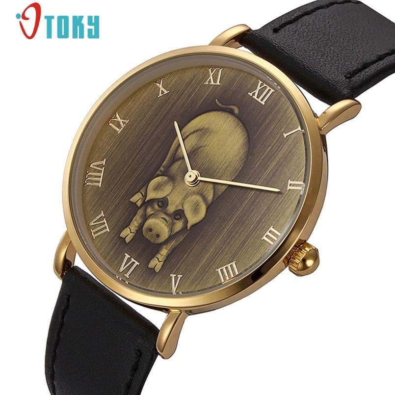 Excellent Quality Brand Men s Watch Quartz Watches Men Watches Top Luxury Pig Pattern Design Vintage