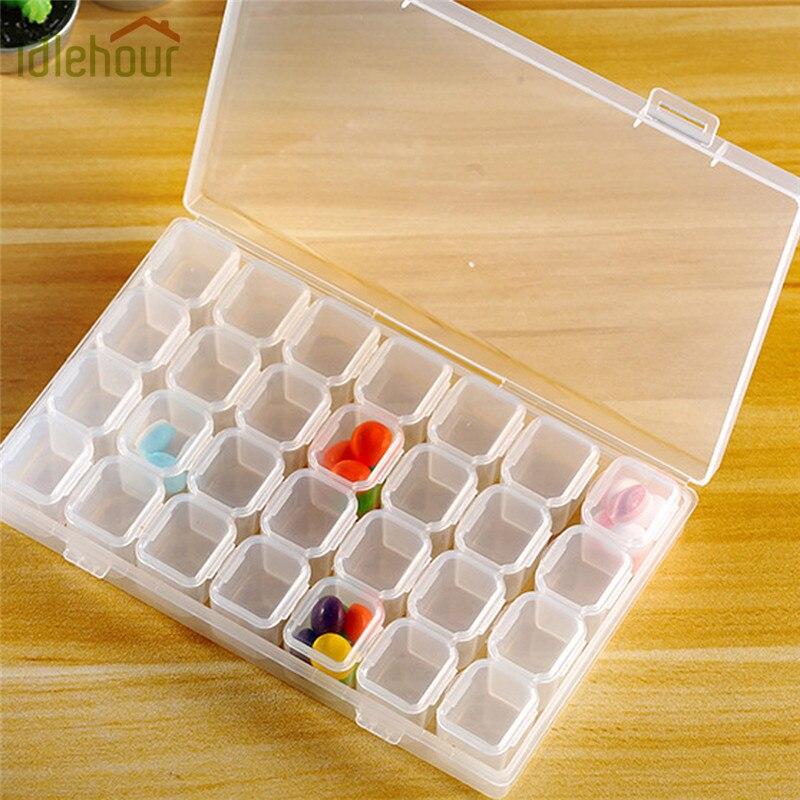 28 отсеков ящик для хранения Пластик прозрачный Дисплей Организатор держатель Чехол Контейнер для горный хрусталь бусы, кольца, серьги