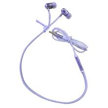 Seovo 3.5mm Stereo Earbuds Fluorescence Noctilucent Earphone Zipper Metal Anti-winding Earphones For Iphone Huawei Mi