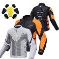 Summer DUHAN Moto motorcycle riding reflective safety jacket motorbike Cycling men chaqueta moto dress orange Gray M L XL XXL
