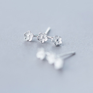 925 Sterling Silber Verhindern Allergie Blume Stud Ohrringe für Frauen Schule Grils Kinder Hochzeit Ohrringe Schmuck Geschenk eh824