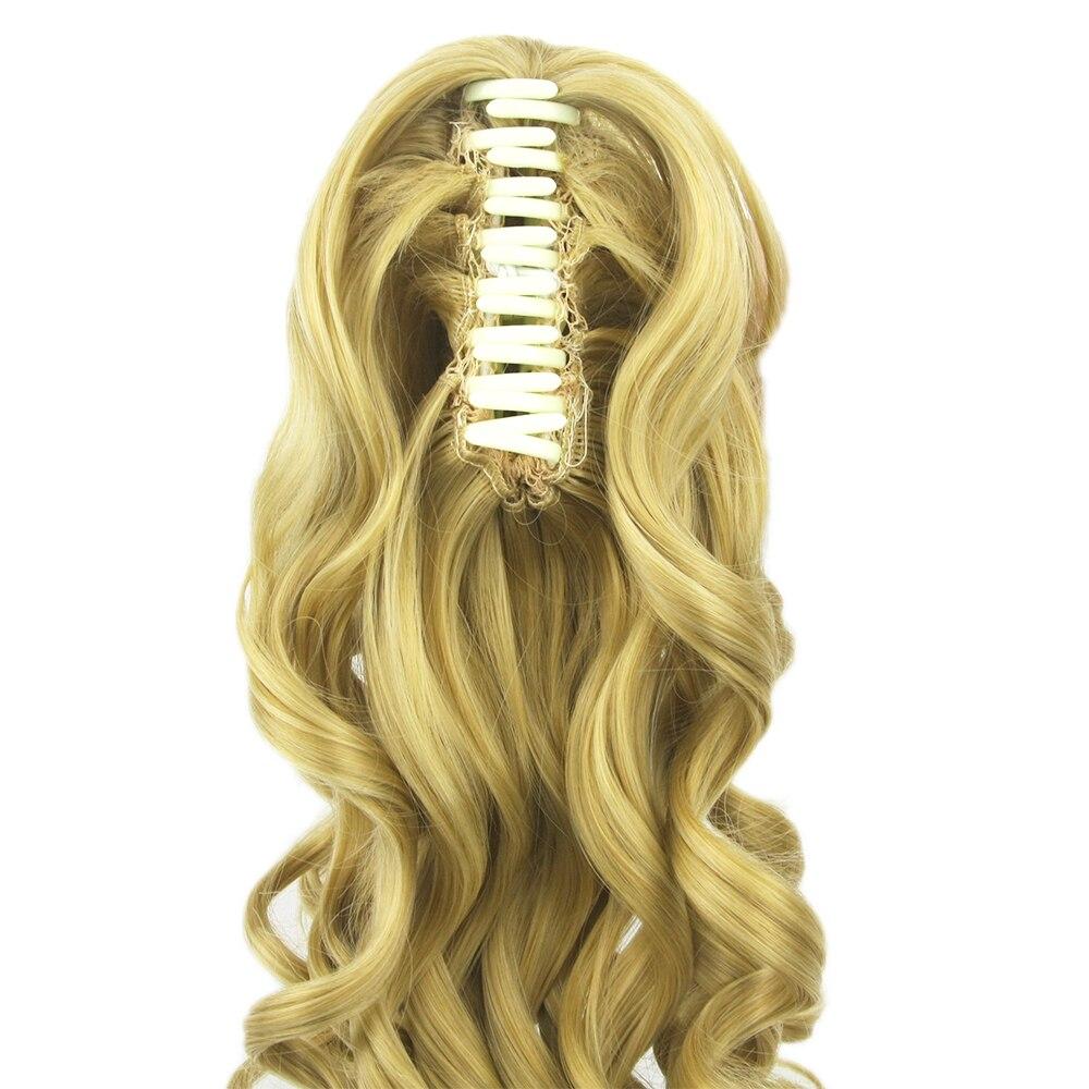 Soowee 180g Long Blonde Curly Clip In Hair Extensions