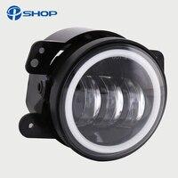 2pcs Pair 30w Led 4 Inch White Round Fog Lights Lens Projector 4 Fog Lamp For
