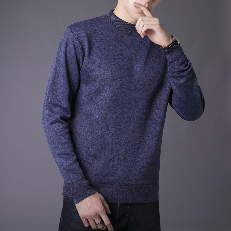 Men\`s Sweaters Fashion Casual Solid Color Slim Fit Sweaters And Pullovers Knittwear Basic Jumper Men Tops Pull Homme Hiver (5)
