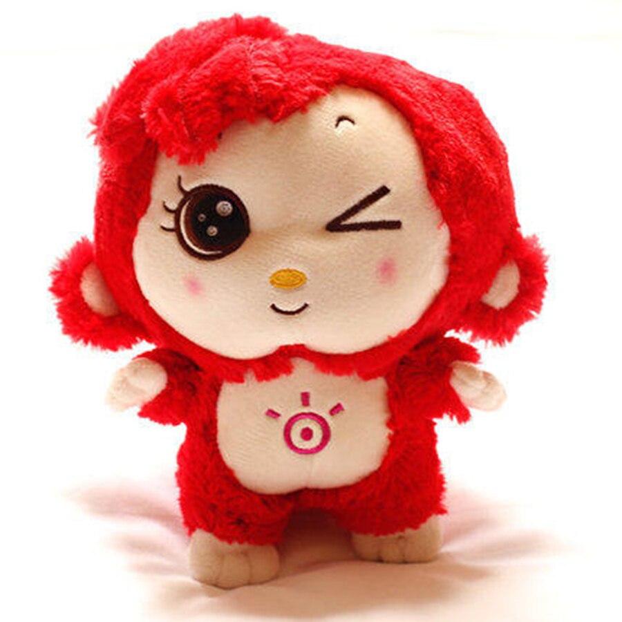 New Cute Animal Soft Stuffed Plush Toys Monkey Colorful Lovely Monos De Peluche De Animales For Children Birthday Gift 70C0089