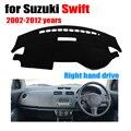 Salpicadero del coche cubre para Suzuki Swift 2002-2012 años con volante a la derecha salpicadero pad cubierta de tablero tablero de auto accesorios