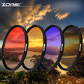 Zomei 49/52/55/58/62/67/72/77/82mm Ultra Slim Graduated Color Filter Gradient Neutral Density Gray/Red/Orange/Blue Lens Filter