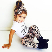 2018 Summer Baby Girl Clothing Set Short Sleeve Letter T-shirt+Pants+Headband 3Pcs Suit Casual Outfit Newborn Baby Girl Clothes(China)