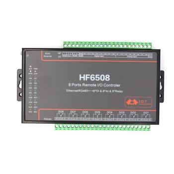 8 полосный пульт дистанционного управления I/O, 8 канальный сетевой коммутатор 8DI AI, цифровой аналоговый к RS485 Ethernet, WIFI, последовательный серве
