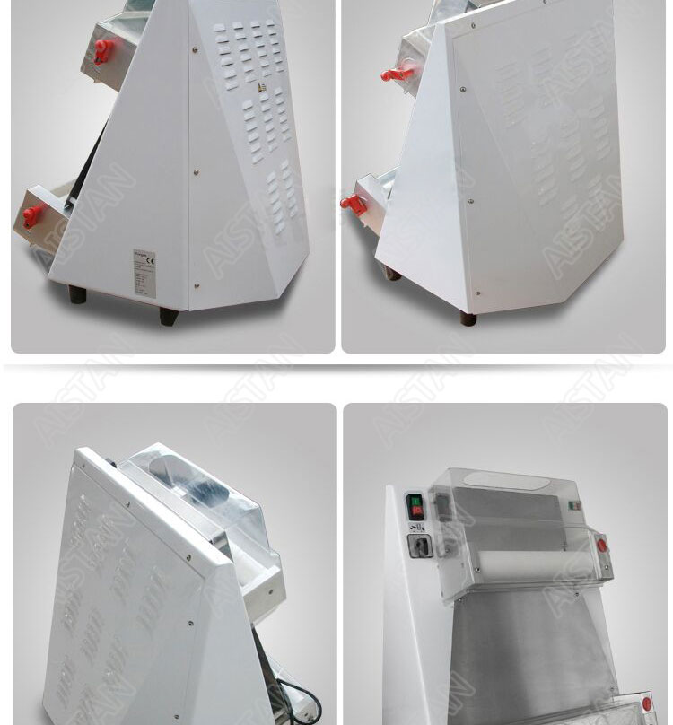 DR1V/DR1V-FP electric counter top stainless steel pizza dough roller machine pizza making machine dough sheeter 8