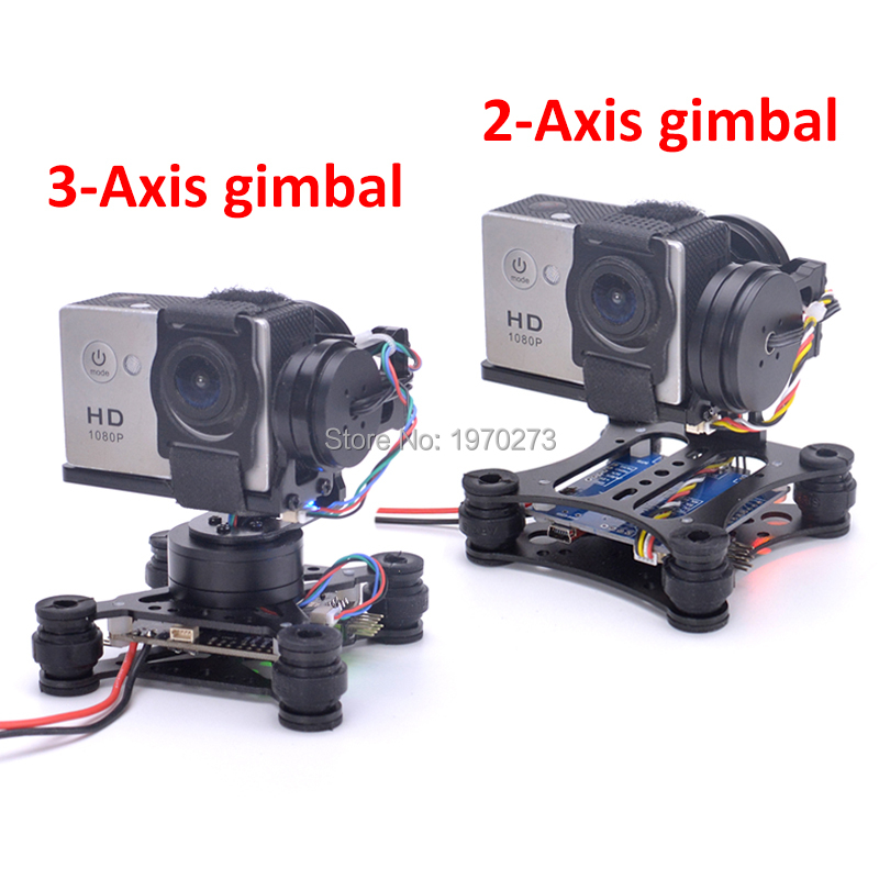 Lightweight 2 Axis / 3 Axis Brushless Gimbal Board for SJ4000 Gopro3 4 Gopro Hero 5 6 session Runcam 3 Eken H9 Camera RC Drones