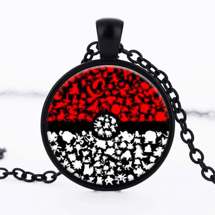 ộ ộ Japanese Anime Pendant Necklace Holder Pocket Monster Jewelry