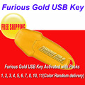 Бесплатная доставка Furious Gold USB Ключа Активации с Пакетами 1, 2, 3, 4, 5, 6, 7, 8, 10, 11