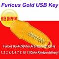 Frete grátis USB Chave de Ouro Furioso Ativado com Packs 1, 2, 3, 4, 5, 6, 7, 8, 10, 11