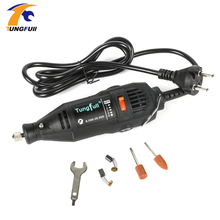 Tungfull Mini Drill Dremel Style Electric Rotary Tool Engrave Grinder Variable Speed with Flexib and 112pcs Accessories DIY Kits