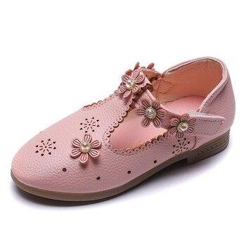 38d17a3bda Bebé niños bebé niñas flor princesa soltera zapatos de cuero sandalias de  erkek silicona sandalet niñas sandalias de cuero más amable