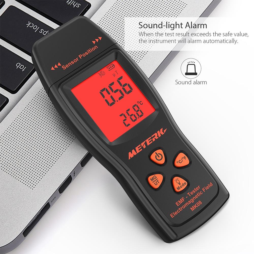 B EMF Meter Handheld Mini Digital strahlung dosimeter LCD EMF Detektor Elektromagnetische Bereich Strahlung Tester Dosimeter Tester