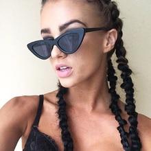 Sunglasses Cat's Eye Women Small Size Vintage Retro Black