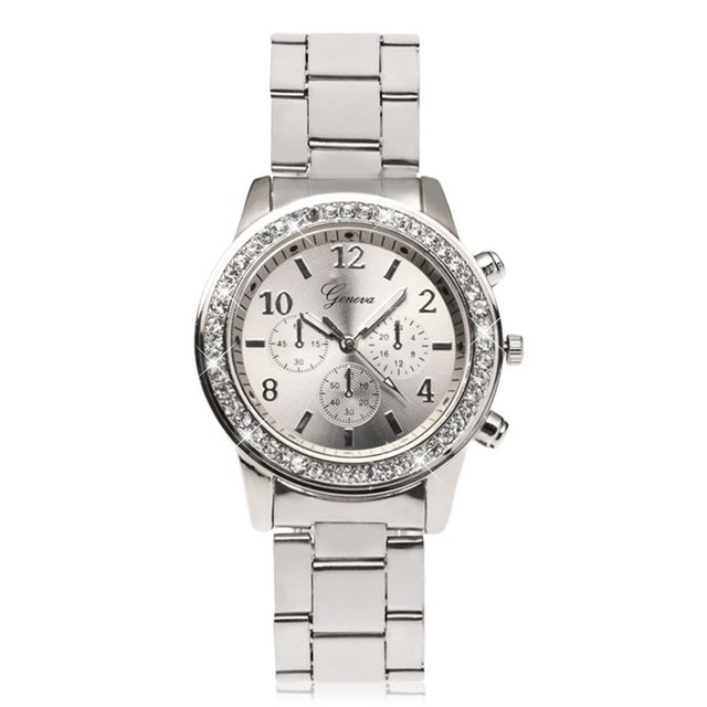 Luxury Women Bracelet Watches Ladies Stainless Steel Quartz Wristwatch Relogio F