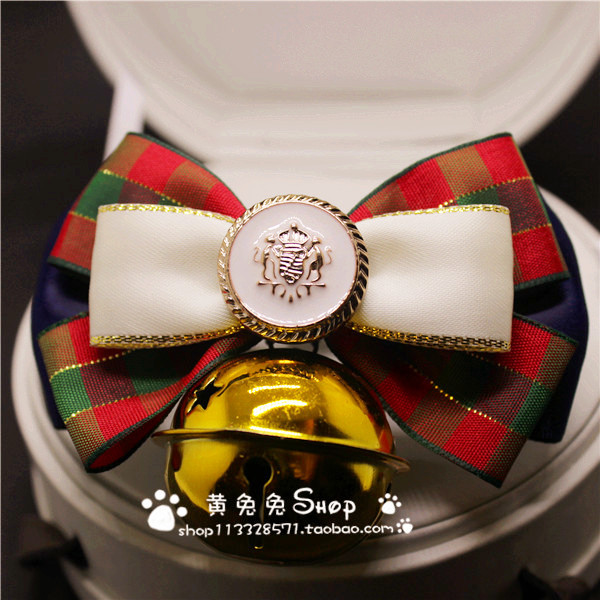 British Plaid Style Pet Collar Handmade Collars For Dogs Accessories Bell Bow Tie Products PT319 In From Home Garden On