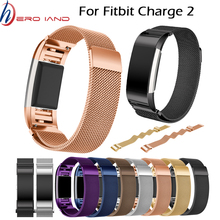 цена на Hero Iand for Fitbit Charge 2 Bands Magnetic Stainless Steel Replacement Strap Bandje for Fit Bit Charge2 Fitness Wristband
