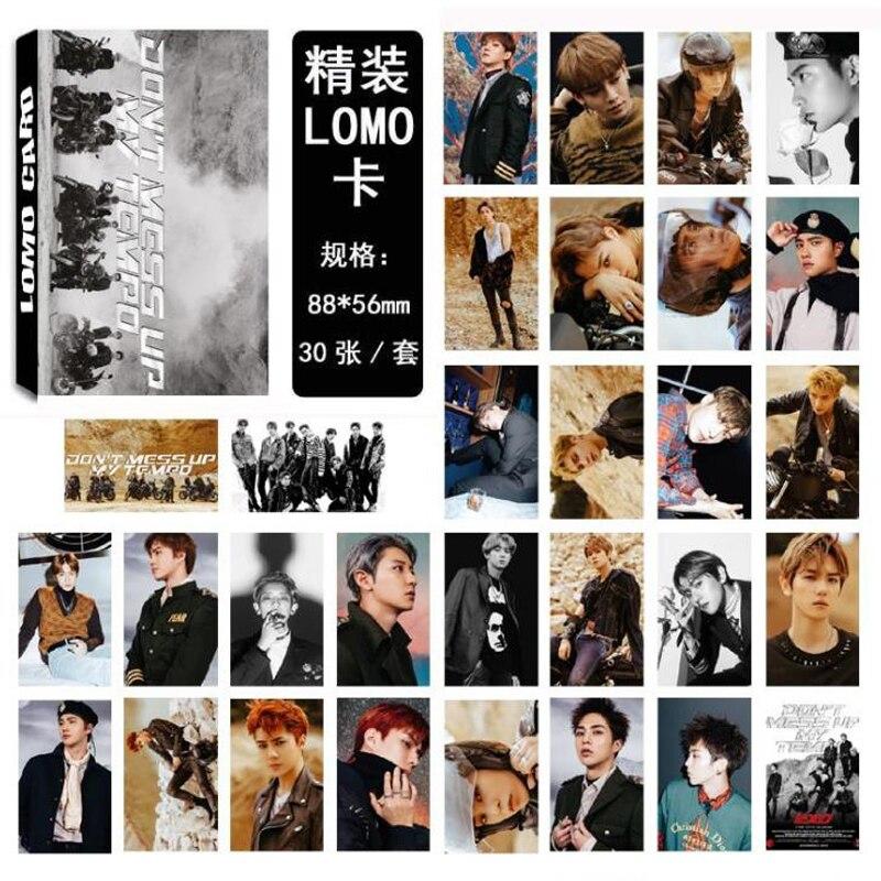 Methodisch 30 Teile/paket Mode Kpop Exo Nicht Chaos Up My Tempo Album Lomo Karten Chanyeol Baekhyun Selbst Made Papier Foto Karten Schreibwaren Kalender, Planer Und Karten