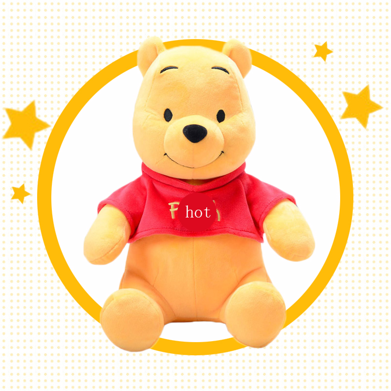 Disney Genuine Authorization Cartoon Plush Doll Winnie The Poohs Bear Stuffed Animals Soft Toy For Children Gift