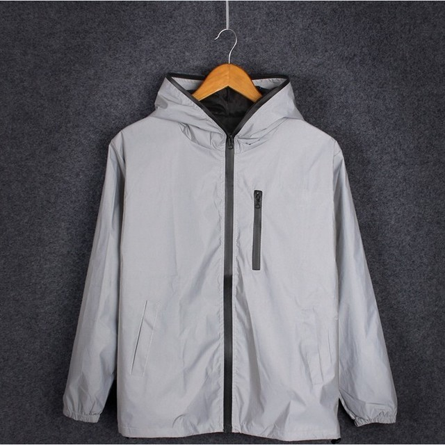 5XL 4XL Men's 3M Full Reflective Jacket Light Hoodies Women Jackets Hip Hop Waterproof Windbreaker Hooded Streetwear Coats Man