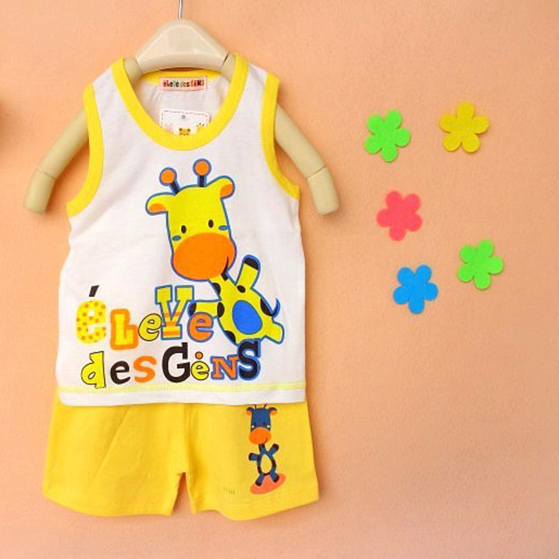 New Kids Clothes Girls Boys Animal Shirt And Pants Children's Casual Set Baby Clothing Retail Children Suits 2Pcs
