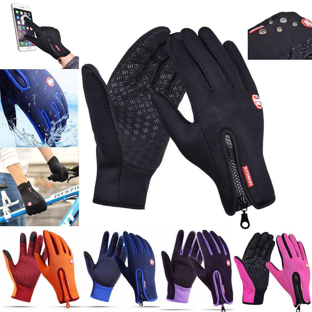Winter Touch Screen Windproof Outdoor Sport Gloves Thick Warm Mittens Women Man Unisex Anti-slip Waterproof Glove Motorcycle