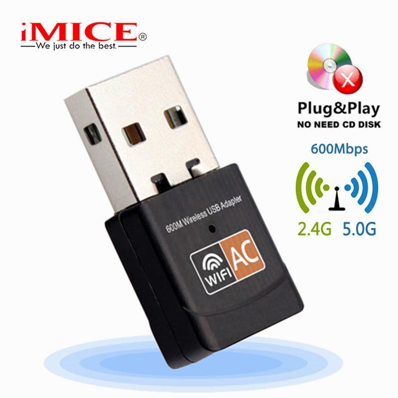 Wireless USB WiFi Adapter 600 Mbps wi fi Dongle PC Netzwerk Karte Dual Band wifi 5 Ghz Adapter Lan USB ethernet Empfänger AC Wi-fi