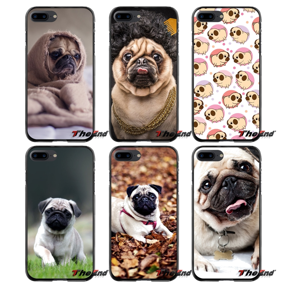 Pug Dog Animal For Apple iPhone 4 4S 5 5S 5C SE 6 6S 7 8 Plus X iPod Touch 4 5 6 Accessories Phone Shell Covers