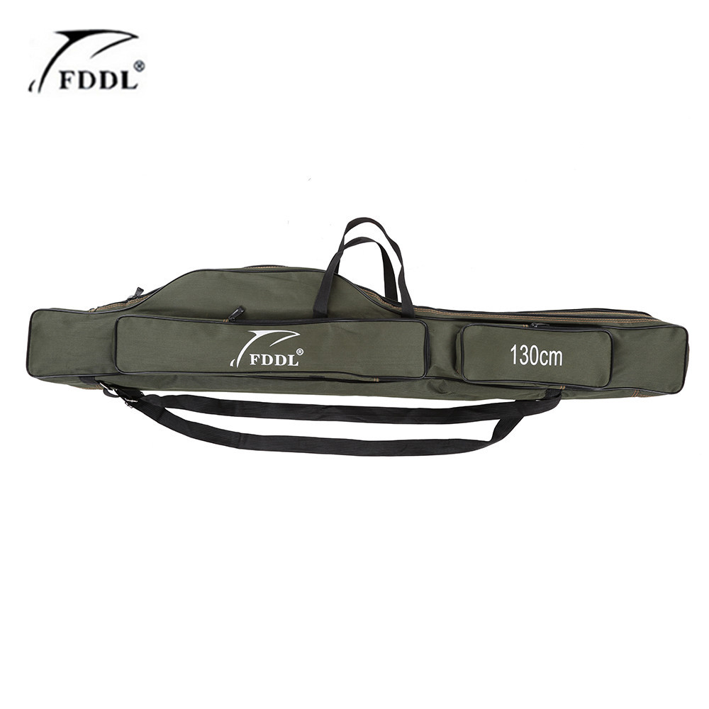 Fddl 120 130 150cm canvas fishing bag outdoor foldable for Fishing rod tote
