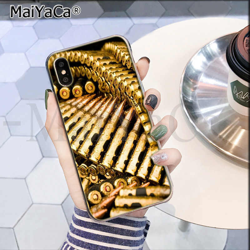 MaiYaCa Quân Quạt vũ khí súng đạn xốp đạn nước In Hình Vẽ bảo vệ Nắp Lưng điện thoại cho iPhone 8 7 6 6S 6S Plus X XS Max 5 5S SE XR