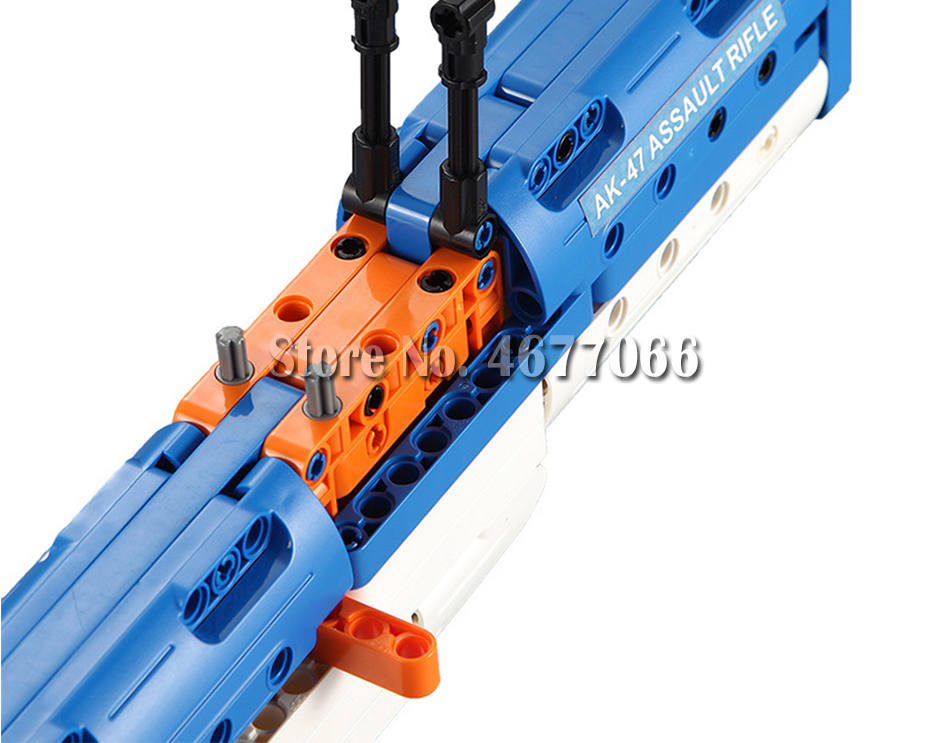 cada technic building blocks AK-47  gun  military legou toy bricks weapon set can fire  rubber band  toys for children boys kids 24