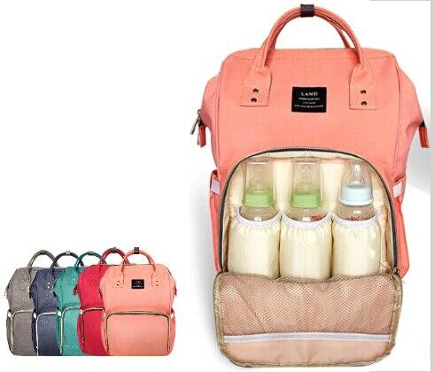 d38fa05707 Mode Mumie Mutterschaft Windel Tasche Marke Große Kapazität Baby Tasche  Reise Rucksack Desiger Pflege Tasche für