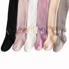 1-5Y Spring/Autumn Children Tights Cotton Baby Girl Pantyhose Kid Knit
