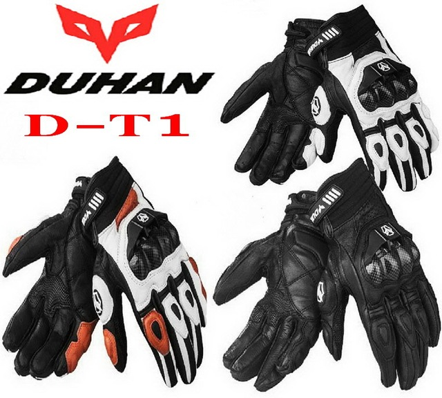 DUHAN  full finger Motorcycle gloves Off-road racing motorbike glove made of leather and carbon fiber Drop resistance M L XL XXL