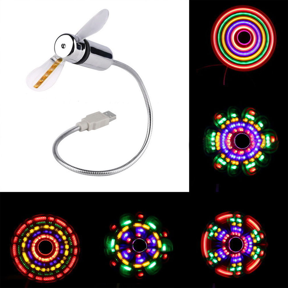 Mini Flexible LED Light USB Fan Desktop Cool Gadget USB Gadget
