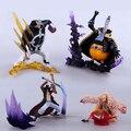 4 unids/lote figura de una pieza Mihawk + bartolomé Kuma + Doflamingo figura de acción fresca estilo de colección modelo juguetes