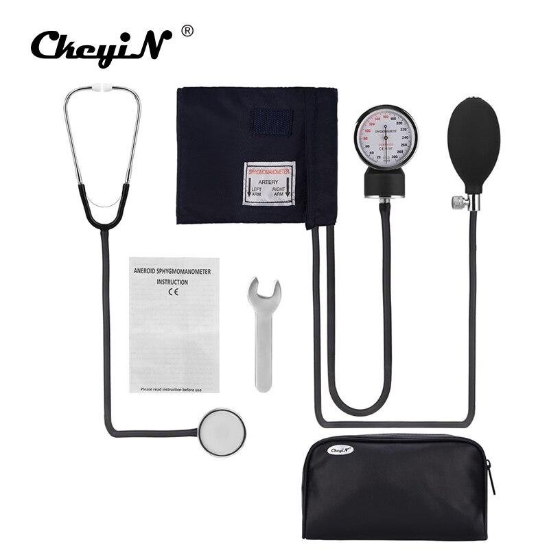 Profissional Médico Esfigmomanômetro Manguito Monitor De Pressão Arterial Estetoscópio Médico Household Dispositivo de Medida Com Saco