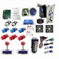 60 in 1 Arcade game parts diy bundles kit with zippy joystick+Happ style push button+multi game board machine part kits