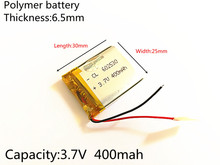 Polímero de Íon Li-ion para Gps 3.7 V 400 Mah 602530 Plib; de Lítio e bateria Mp3 Mp4 Mp5 Dvd Bluetooth Relógio Inteligente