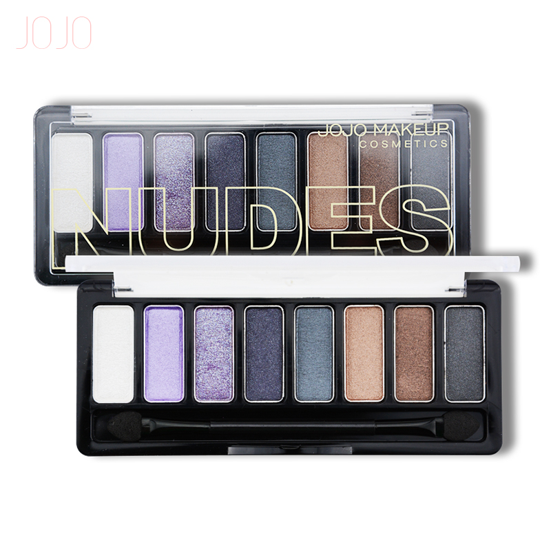 JOJO 8 Colors Eye shadow Palette in Shimmer Metallic Baked Eyeshadow Choose ...