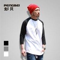 Sallei Autumn Hiphop Street Hiphop Pop For Ping All Match T Shirt Poppin Three Quarter Sleeve