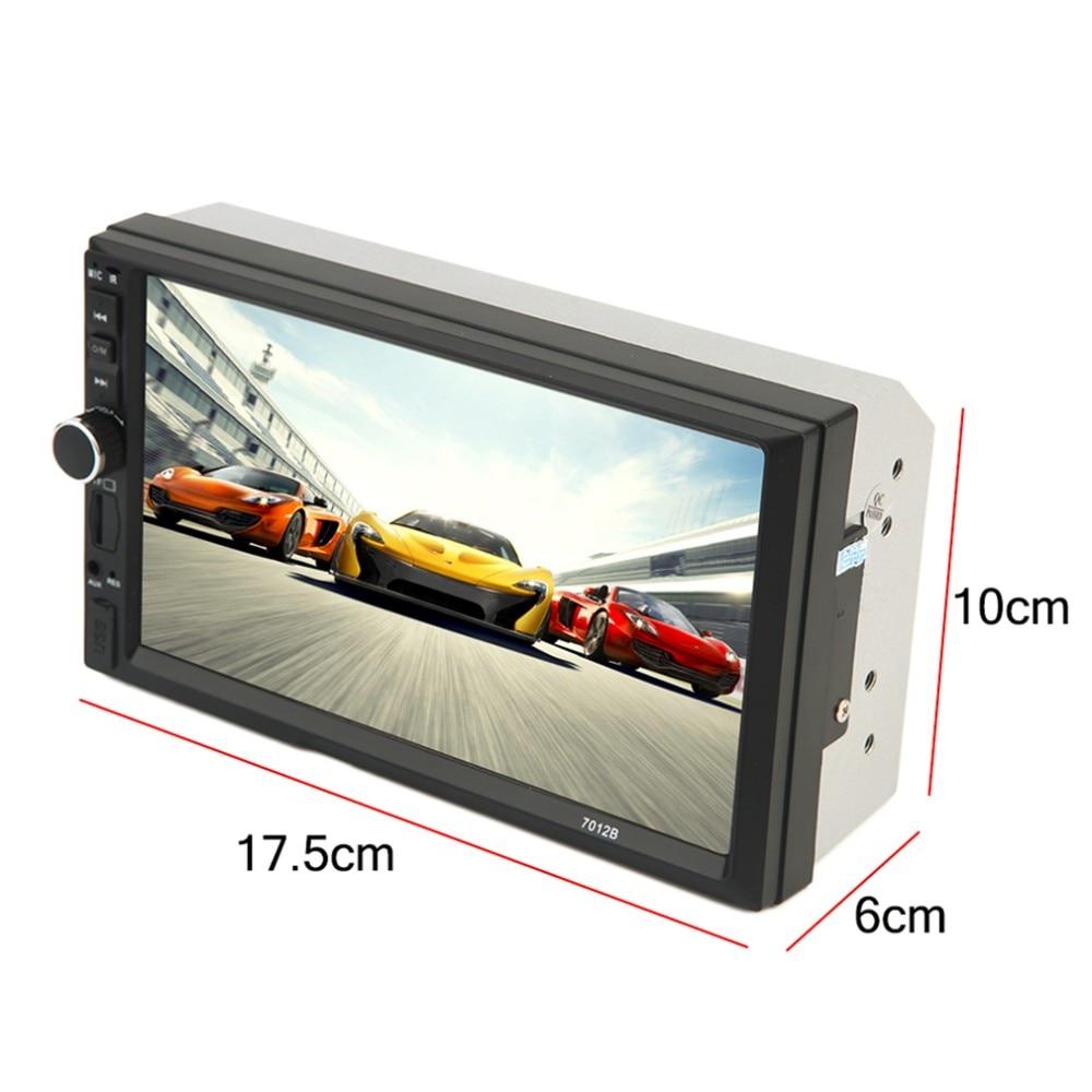 ФОТО 2016 New 2 Din Universal Bluetooth 7 Inch Screen Display Aux Input Auto Car DVD FM/MP5 Player Vehicle Rear View Camera Input Hot