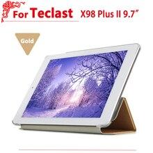 """Alta calidad caso De Teclast X98 Plus II/2 Cubierta Del Tirón de Protección caso de Cuero de LA PU Para Teclast X98 Plus II 9.7 """"tablet pc"""